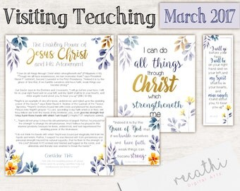 March 2017 Visiting Teaching Message,  Relief Society Printable, Download Instant Message VT LDS handouts