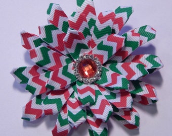 Red and Green Holiday Flower