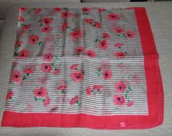 Silk stole,  scarf or paréo in soft orange colour.