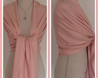 Pink Cashmere Blend Wrap Pashmina Shawl Scarf Party Weddings Gift Idea