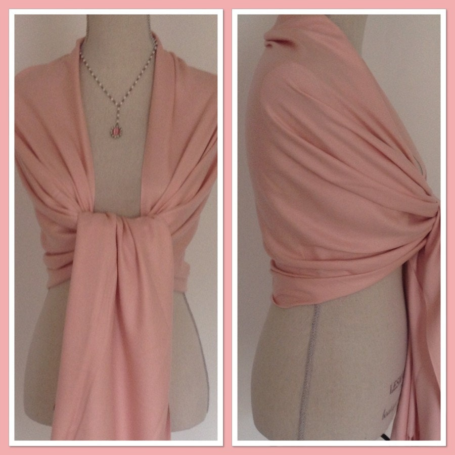 Pink Cashmere Blend Wrap Pashmina Shawl Scarf Party Weddings