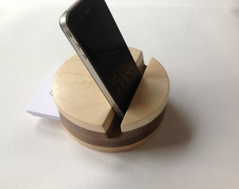 Wooden iPad stand, docking station, iPhone stand, tablet holder, android holder