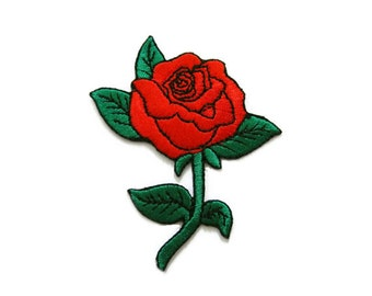 red rose patch tattoo