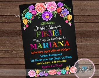 Fiesta Bridal Shower Invitation, Fiesta Bridal Shower, Fiesta Mexicana Bridal Shower Invitation, Mexican Fiesta Invitation, Digital File