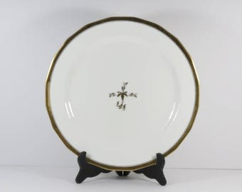 """CLEARANCE! Cauldon China Stoke on Trent England, Retailed by W. H. Plummer & Co. New York 12.5"""" Charger with Gilt."""