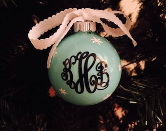 Christmas Ornament with Initials!