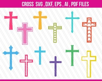Cross SVG, Cross clipart, Dxf, Cross vectors, Christian cross Svg, Screen Printing, Cross Silhouette, Svg,dxf,EPS,AI, pdf - Digital download