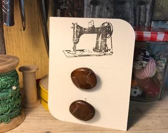 Retro Leather button x 2