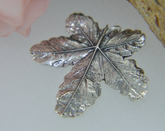 Silver Pendant, Silver Necklace, Leaf Pendant, Leaf Necklace, Nature jewellery,  Autumn leaves, Silver leaf (PMC) (UK)