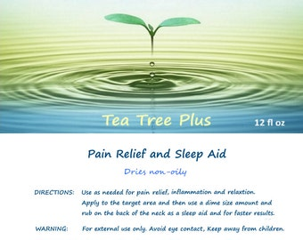 TTP - Aches and pain relief and relaxing sleep aid. Rashes and skin irritations.