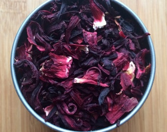 Hibiscus Loose Leaf Tea & Hand-filled Tea Bags