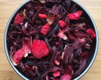Berry Hibiscus Herbal Loose Leaf Tea & Hand Filled Tea Bags