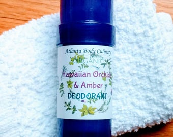 Hawaiian orchid & amber organic deodorant 4 oz Chamomile deodorant organic orchid deodorant chamomile butter deodorant