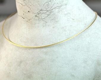 Collier vergoldet 585 Gold Verschluß Schmuckdesign FangFrisch made in Germany