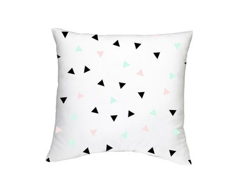 Playful Geometric Throw Pillow Case (Cover ONLY)