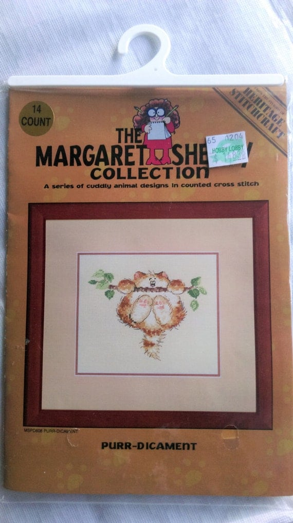 """Margaret Sherry Collection """"PURR DICAMENT"""" Counted Cross Stitch Kit / Heritage Stitchcraft"""