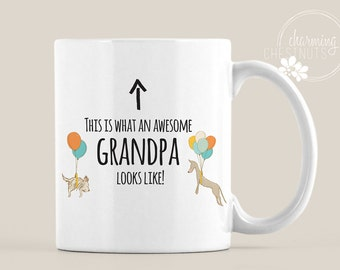 GRANDPA MUG, This is what an awesome grandpa looks like, Father's Day Gift, Grandpa to be, new Grandpa mug, Grandparent gift, Pop Mug