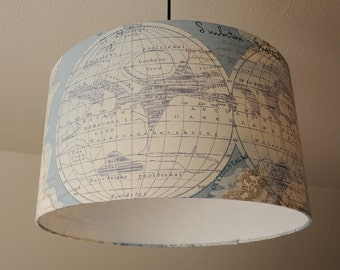 "Ceiling lamp ""globe"" (blue) (ceiling lamp shade)"