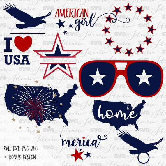 4th Of July Svg Patriotic Svg Summer Svg Monogram Frames