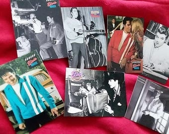 10 the elvis collection trading cards//1992//elvis presley//rock n roll cards//trading cards//vintage cards