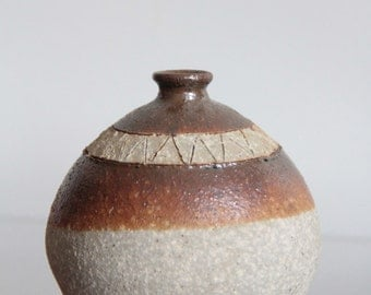 Studio pottery weed pot