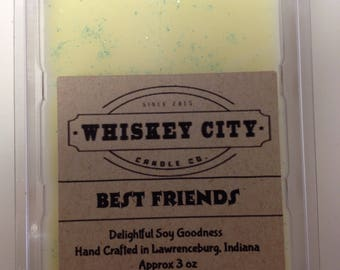 Best Friends Wax Melts Clamshell Bar Highly Scented 6 cavity