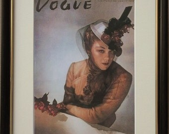 Mounted and framed Vogue print, 8''x10'' framed, Vogue wall art