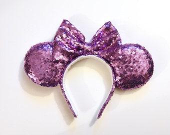 Lavender Sequin Ears