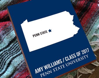 Penn State - Penn State Wall Art - Penn State Decor - Penn State Wedding - Penn State Sign -  College Graduation Gift