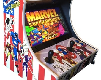 Custom Captain America and the Avengers Themed Bartop Arcade! 645 Games!