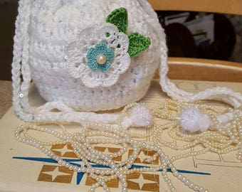 crochet  wedding  bag