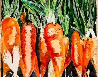 Carrots Painting (print)