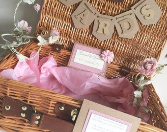 Vintage Shabby Chic and Rustic Wedding Card Basket