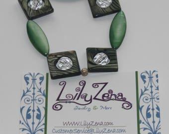 Green & Silver bracelet