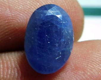 Blue Sapphire Gems Oval Faceted Gemstone Size 8x12x4 mm Cts 3.85 Sapphire Stone PCD 1739