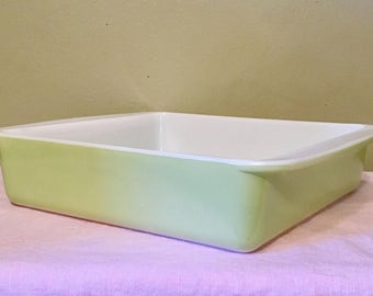 Lime Green Pyrex Dish