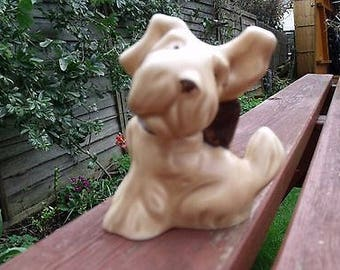 Vintage Sylvac Terrier with One Floppy Ear and Bow Type Collar - No 1119