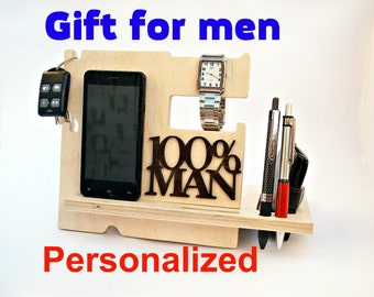 Personalized Gift for Husband Birthday Gift for Husband Husband Gift Husband Present  Wood Docking Station  iPhone Accessories