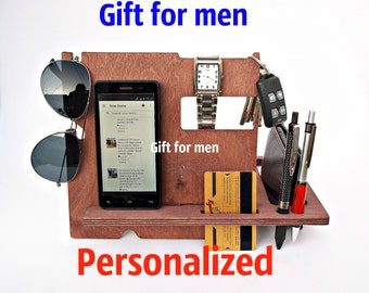 Gift for Him Gift for Boyfriend Present for Men Birthday Gift for Boyfriend Personalized Wood Docking Station