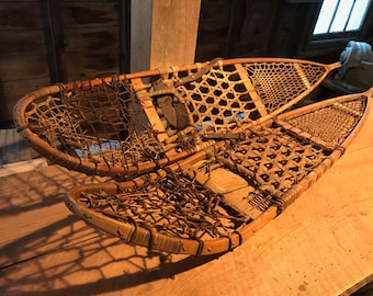 Vintage WWII era snowshoes #2