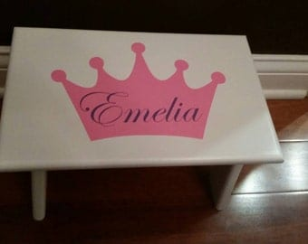 Personalized Stool, Little Kid Step Stool, Girl Step Stool, Princess