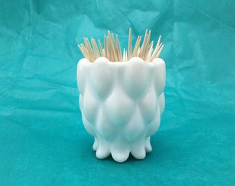 Lovely milk glass toothpick holder. Vintage.