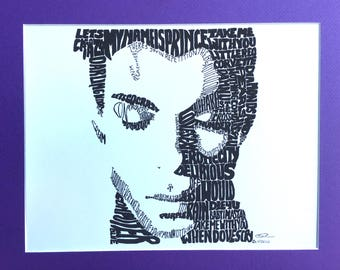 Prince Face in Titles by Chris Drenth Art