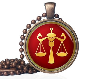 Libra Pendant - Libra Necklace - Libra Jewelry - Libra Birthday Gift - Libra Gift - Zodiac Jewelry - Zodiac Pendant - Zodiac Necklace
