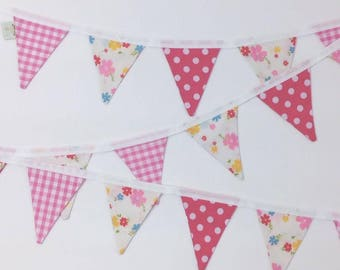 Pink Gingham & Dotty Bunting