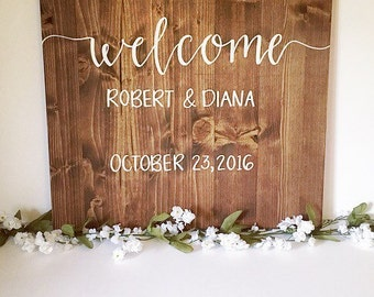 Wedding sign wedding wood sign wedding welcome sign welcome wedding ceremony sign ceremony sign rustic wedding sign rustic wedding decor