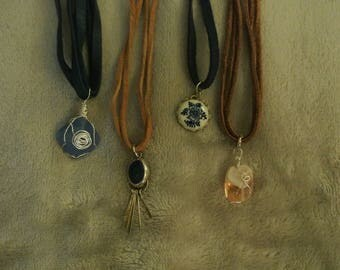 Leather Chokers with Charms