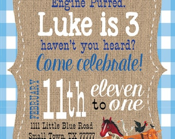 Little Blue Truck invitation