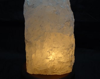Genuine Rough Clear Quartz Lamp W/BULB and Cord #A2  - BEST PRICE