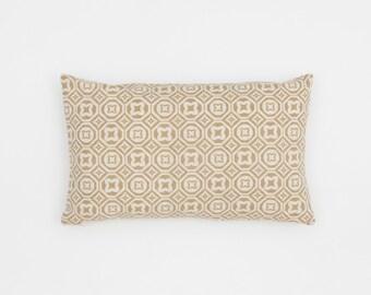 Karo Handscreen Printed Cushion Cover - Fawn  30x50cm